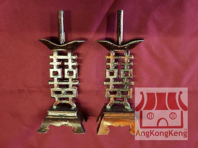 娘惹老旧结婚烛台Antique Nyonya Wedding Candle Holders