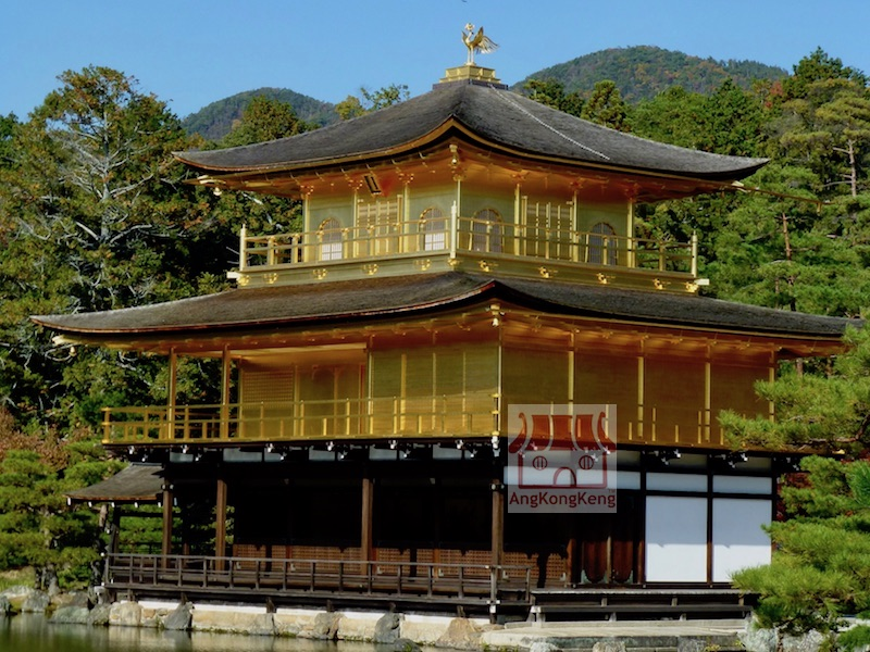 日本京都金閣寺Japan Kyoto Kinkakuji Golden Pavilion